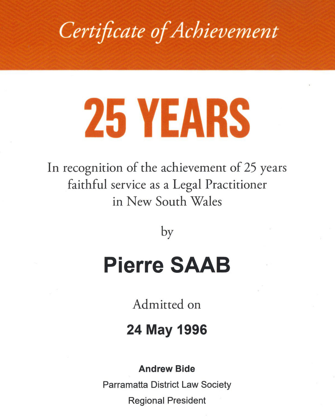 Congratulations on 25 Years!