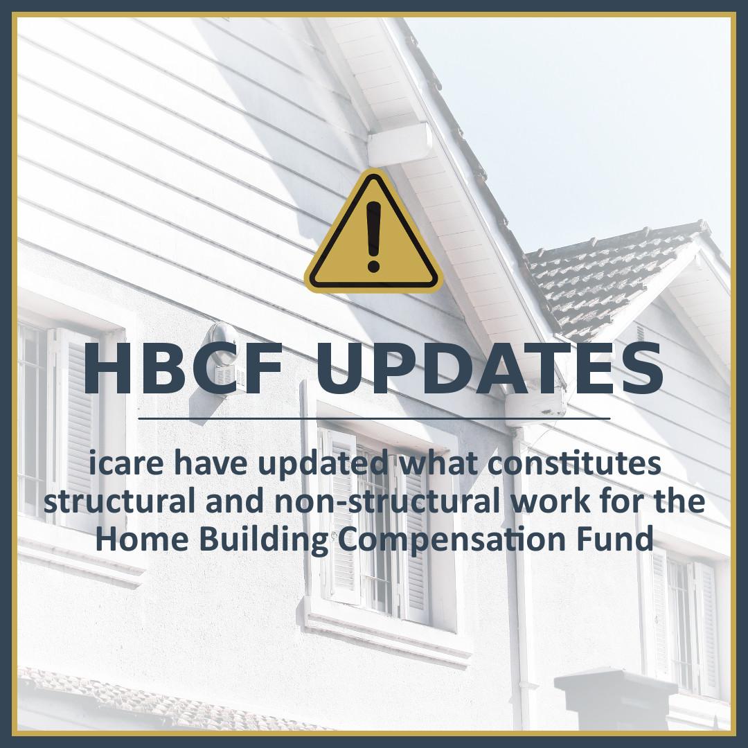 HBCF Construction Classification Updates
