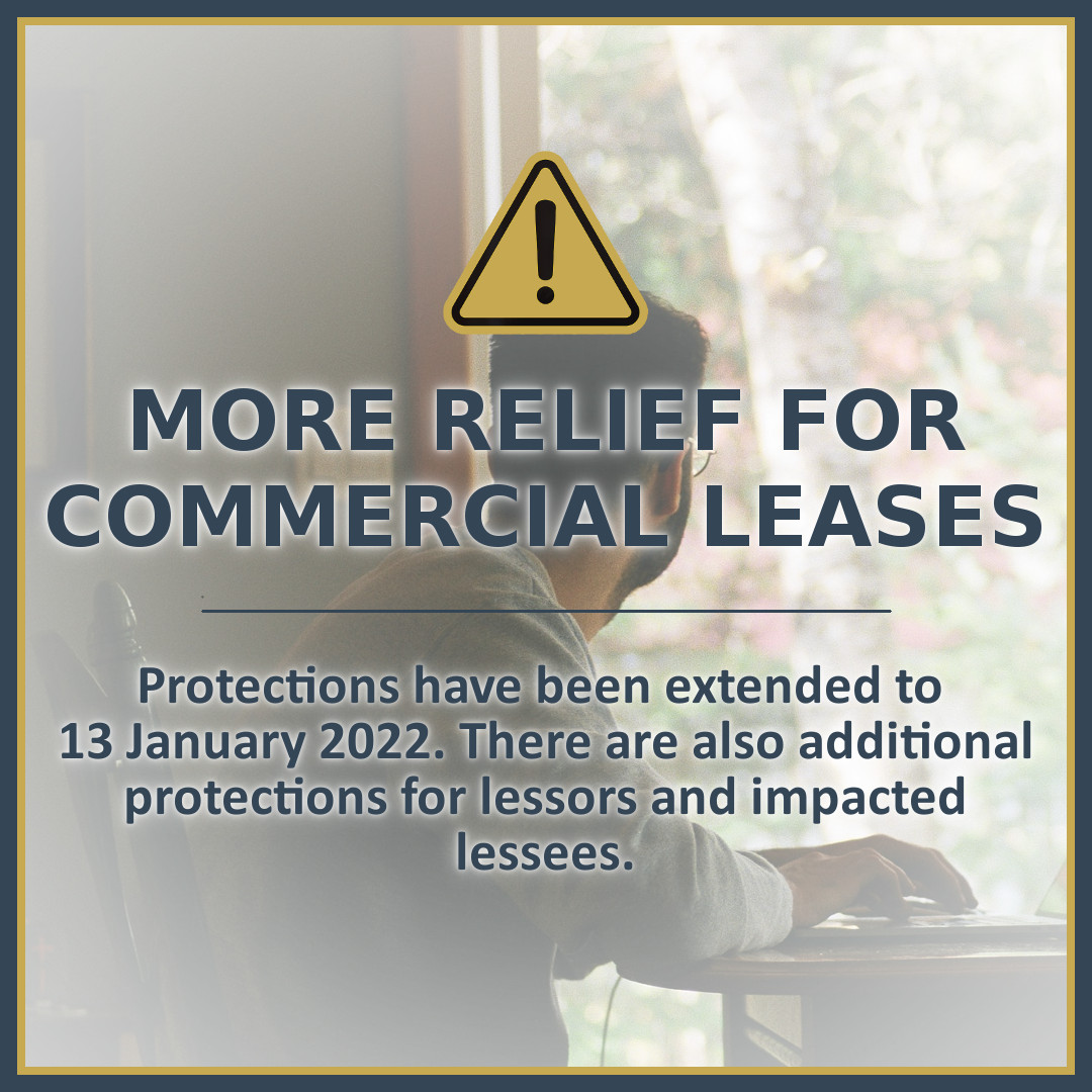 More Relief for Commercial Leases Impacted by Lockdowns